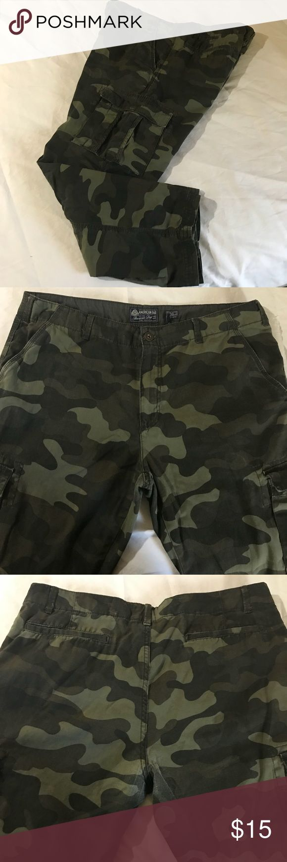 American Rag Camo Cargo Pants American Rag Camo Cargo Pants Size 38/30 American Rag Pants Cargo