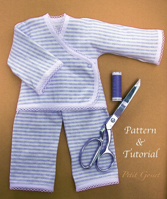 Knit Doll Pajamas PDF, Sewing Pattern & Tutorial