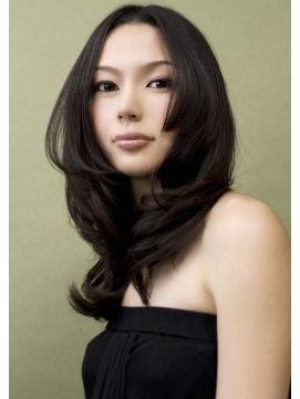 黒髪姫カット