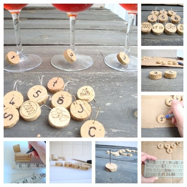 Wine Charms from corks
