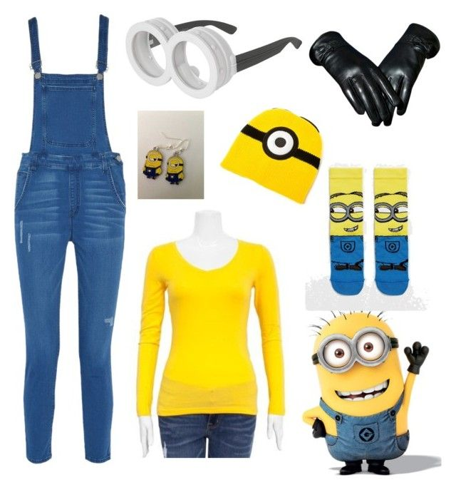 """""""Minion Costume -Check Description-"""" by under100outfits ❤ liked on Polyvore featuring Rebecca Minkoff, claire's and ASOS"""