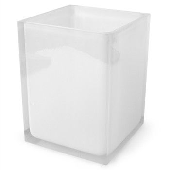 Hollywood Waste Bin - White