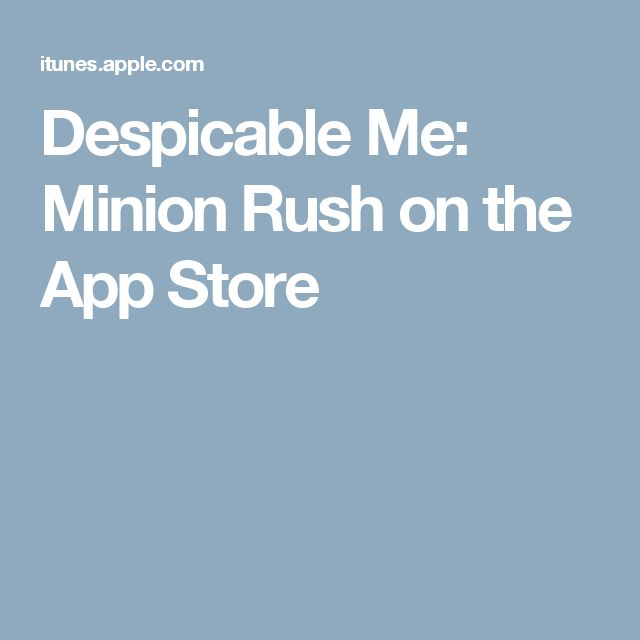 Despicable Me: Minion Rush on the App Store