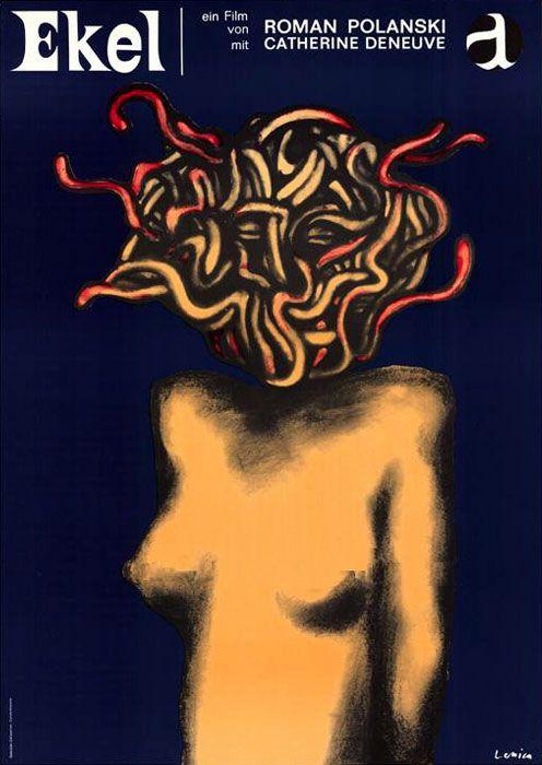 Jan Lenica, film poster for Ekel, Repulsion by Roman Polanski, 1965. Germany