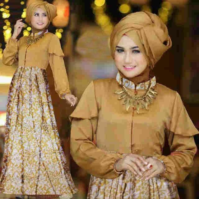 Baju Gamis Modern Miss Liza Gold