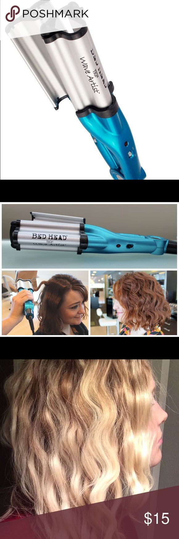 Bed Head Wave Artist Ceramic Deep Waver Turn your hair into a work of art with the Bed Head Wave Artist™ Tourmaline Ceramic Deep Waver. Smooth out hair with a paddle brush after using for distinctive, masterfully sculpted waves that everyone will notice. New. Used once. BedHead Other