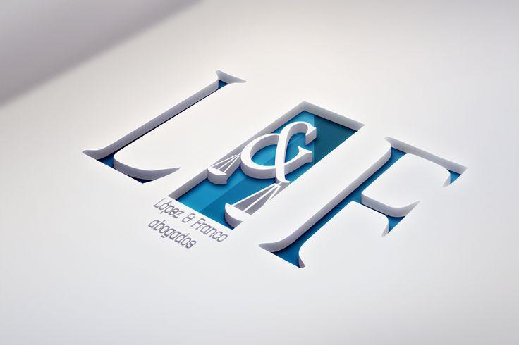 Diseño de logotipo para López&Franco abogados, realizado por Cinco Cocos…
