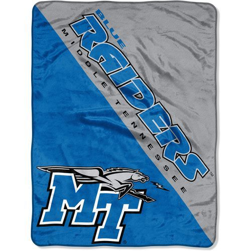 The Northwest Company Middle Tennessee State University Halftone Micro Raschel Throw (Blue, Size ) - NCAA Licensed Product, NCAA Novelty at Academy...