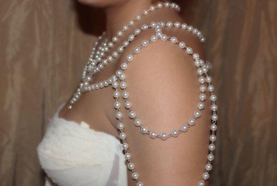 Collar de hombro hombro joyería collar de perlas hombro