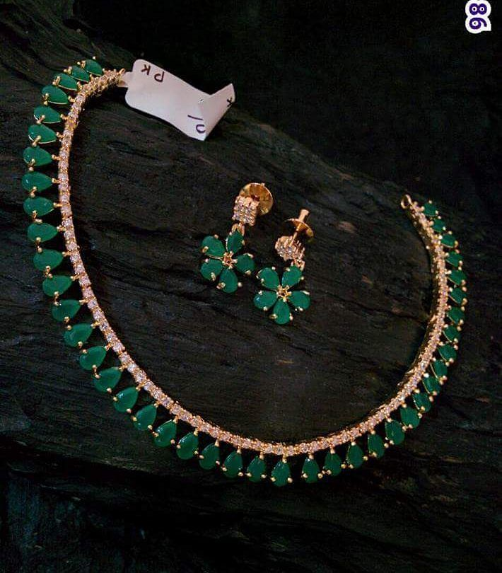 "232 Likes, 16 Comments - Shree Shakthi (@shreeshakthiboutique) on Instagram: ""High quality imitation jewellery Necklace and earrings set"""