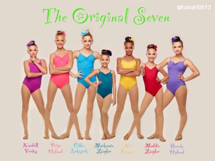 Dance Moms edit of the original seven: Kendall Vertes, Paige Hyland, Chloe Lukasiak, Mackenzie Ziegler, Nia Frazier, Maddie Ziegler, and Brooke Hyland. They will always be the originals and they are not replaceable. Credit to @hahaH0ll13