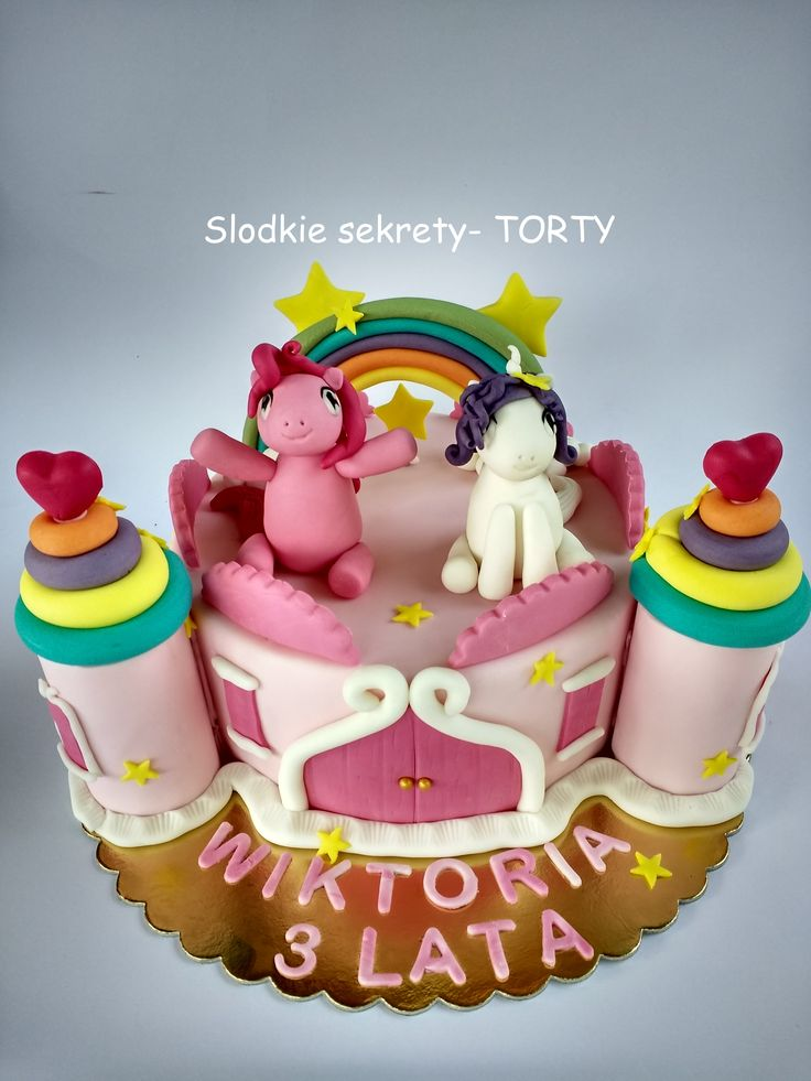 My little Pony castle tower cake. Pinkie Pie, Rarity