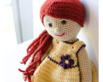 Patrón de ganchillo de muñeca  Conoce a Marcy! El primero de mi serie de patrones de muñeca de ganchillo adorable. Hacerla por sí mismo o para