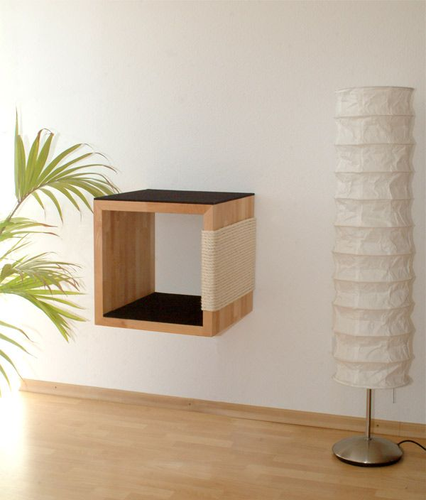 Kratzbaum Quadre an der Wand | Kratzbäume und Katzenmöbel von Kratzpfote