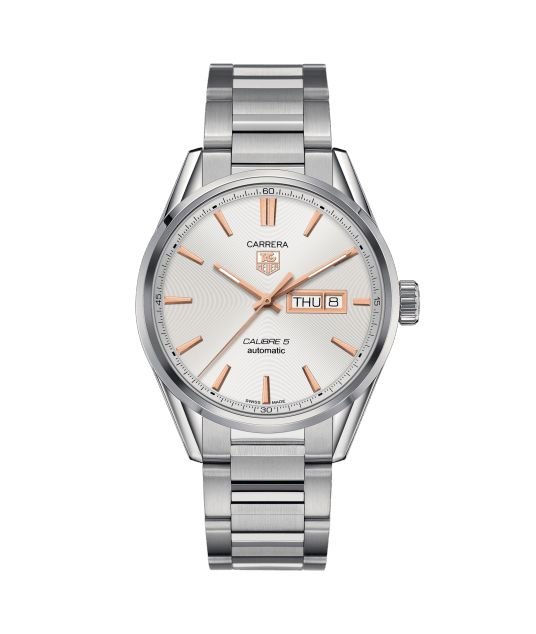 TAG Heuer Carrera Calibre 5 Day-Date Automatic Watch 100 M - 41 mm WAR201D.BA0723 TAG Heuer watch price