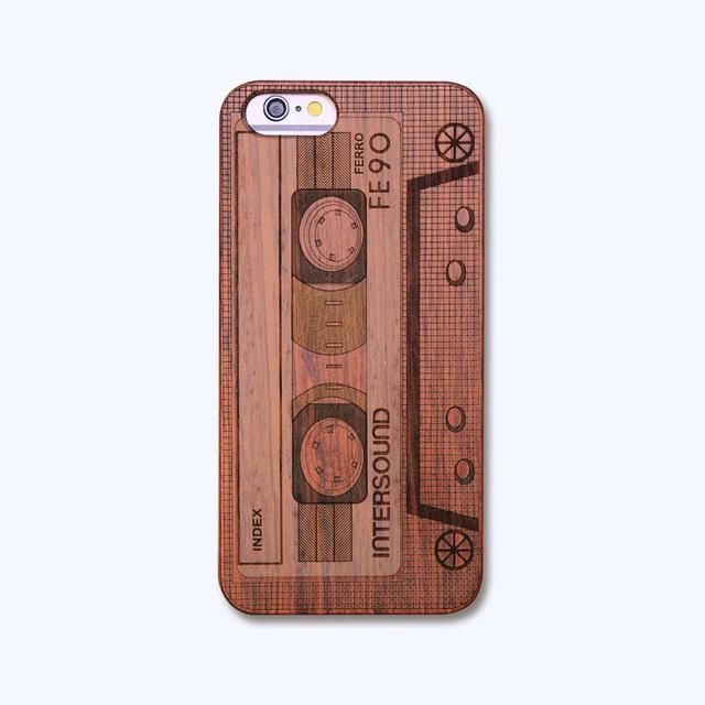"Retro PC+Wood Skull Case for iPhone 6 4.7"" Novelty Vintage Phone Cases Cover for iPhone 6s SE 5S 7 7 Plus 8 Plus X Plastic Shell"