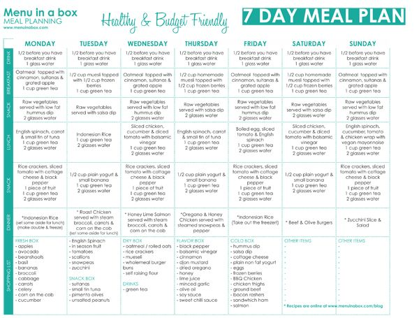 Best Meal Planner Images On   Menu Planning Healthy