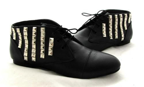 Genuine Leather #Booties  #studs #kalishoes