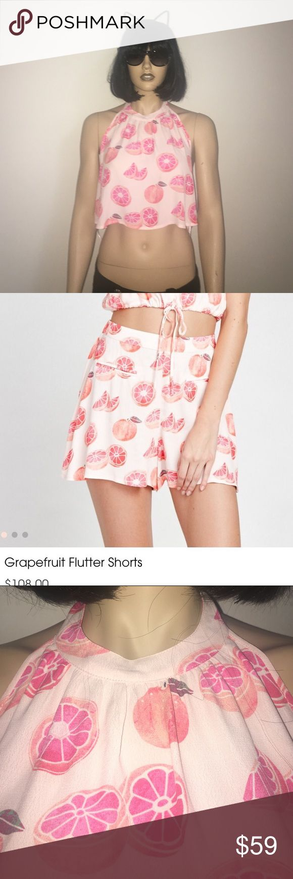 NWT WILDFOX GRAPEFRUIT HARTER TOP Sold out! Brand new with tags!Goes with the flutter shorts I have in my other listing. I can bundle the two for a big discount.!!! Excepting all offers :) ask me anything! Wildfox Tops