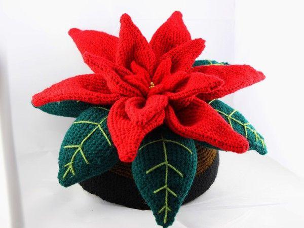 Dekorativer Weihnachtsstern - schnell,einfach zum häkeln