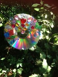 The Imagination Box - Sparkly suncatcher, gemstones on a cd