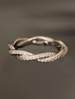 platinum double twist eternity band...YES PLEASE!