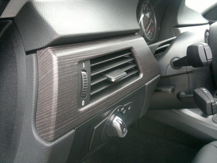 BMW 3 Series Interior Makeover. Wood Finish
