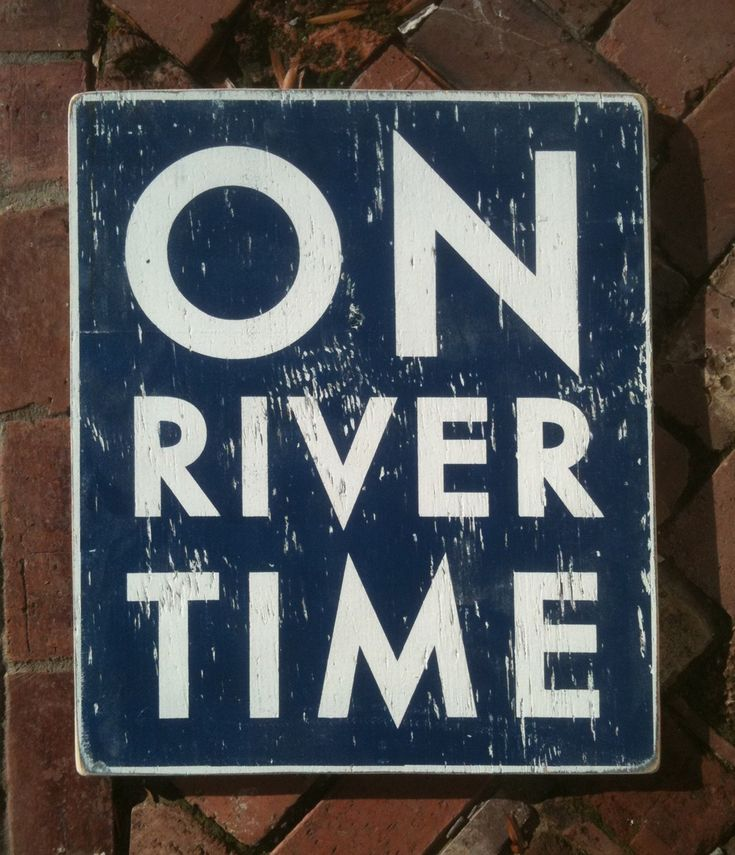 On River Time rustic wooden sign 18x22 by GoJumpInTheLake on Etsy, $45.00