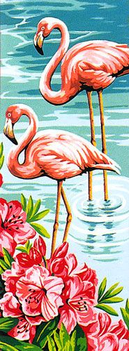 Margot de Paris - Small Canvases - Les Flamands (The Flamingos)
