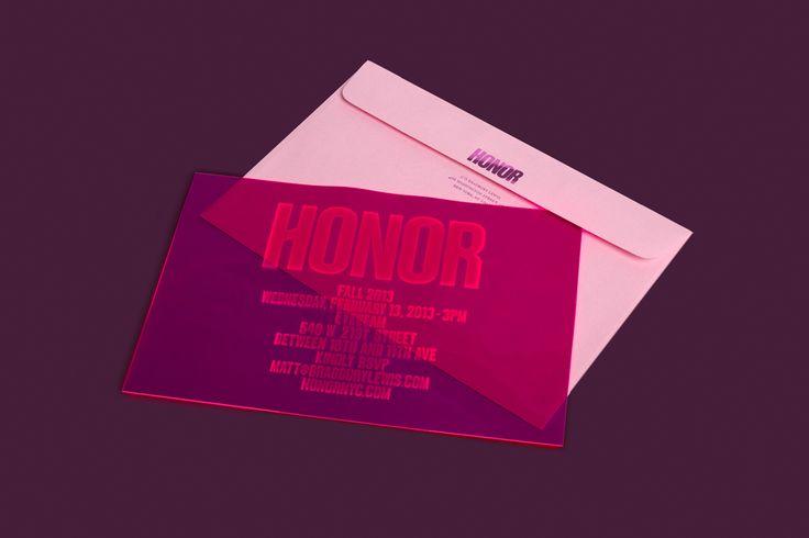 Honor FW'13 Invitation | RoAndCo Studio