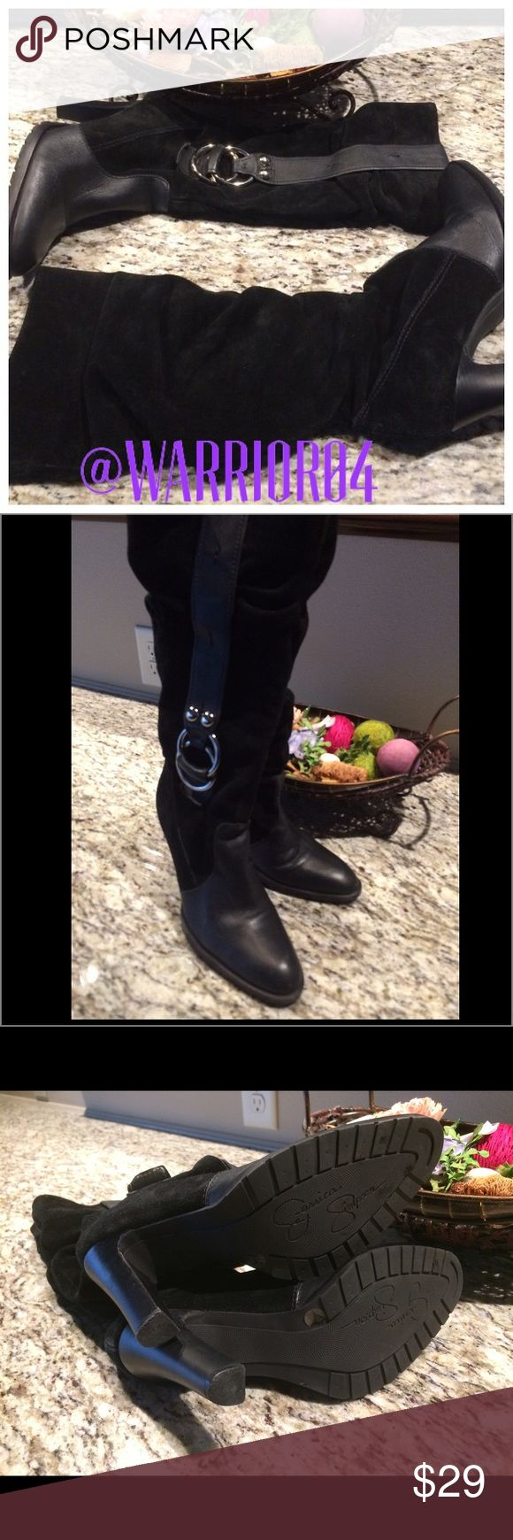 Jessica Simpson Slouchy Heeled Boots Size 6.5 Jessica Simpson Slouchy Heeled Boots Size 6.5 Jessica Simpson Shoes Heeled Boots