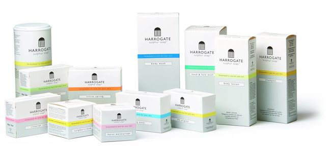 Our soap contains sulphur-rich chemicals drawn from the natural springs at Harrogate spa.