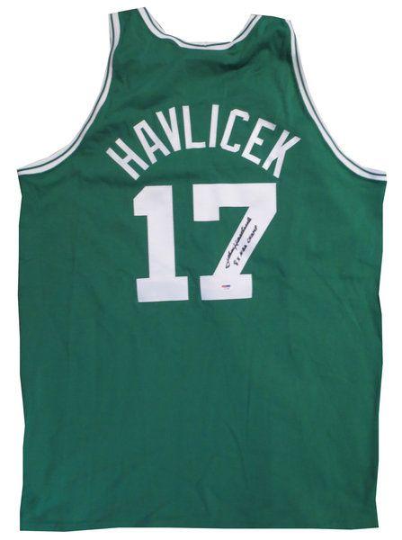 John Havlicek Signed Boston Celtics Mitchell Ness Basketball Jersey PSA DNA signed autographed