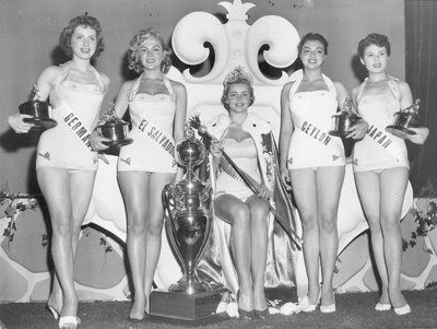 July 22, 1955 - Hillevi Rombin became the fourth Miss Universe