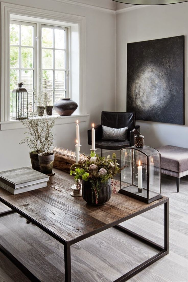 Modern apartment interior design in warm and glamour style digsdigs - Modern And Industrial Danish Home With Dramatic Touches Digsdigs