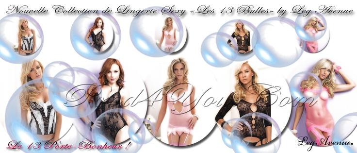 """Nouvelle Collection de Lingerie Sexy """"Les 13 Bulles"""" by Leg Avenue a découvrir sur votre nouvelle Plateforme Sexy Prod4You.Com :  http://www.prod4you.com/#!collection-lingerie-13-bulles-by-leg-avenue/cmjq"""