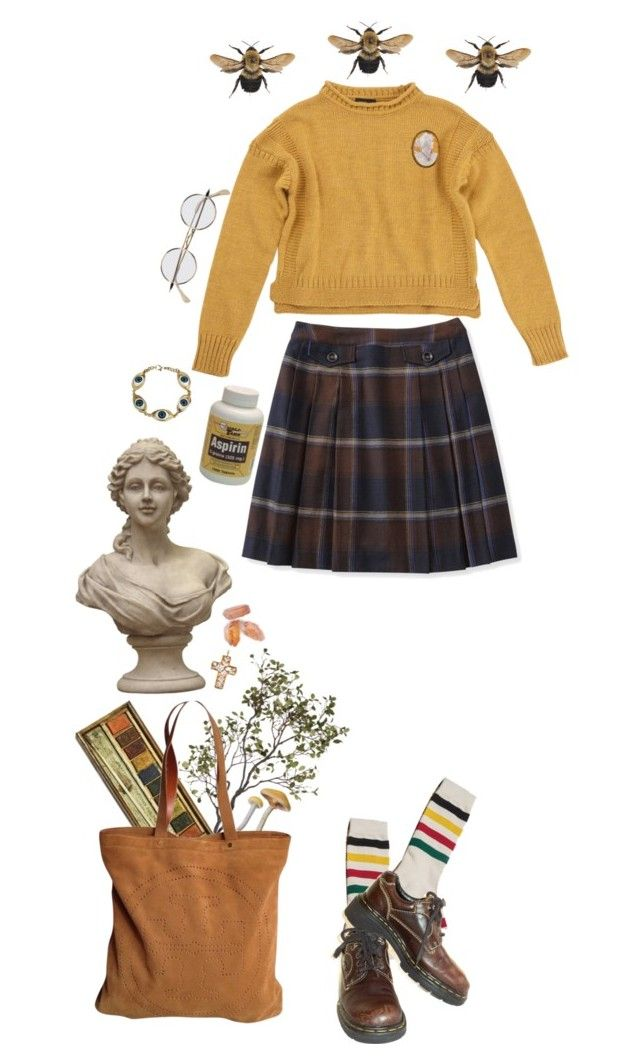 """""""Bright"""" by thewitchishere on Polyvore featuring mode, Crate and Barrel, Tory Burch, Pendleton, Dr. Martens, Topshop et Del Gatto"""