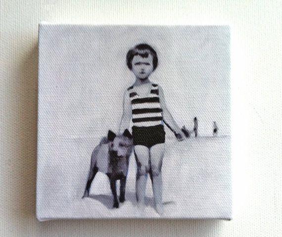 Summer day / Tiny canvas print /art print / CHILDREN / by tushtush