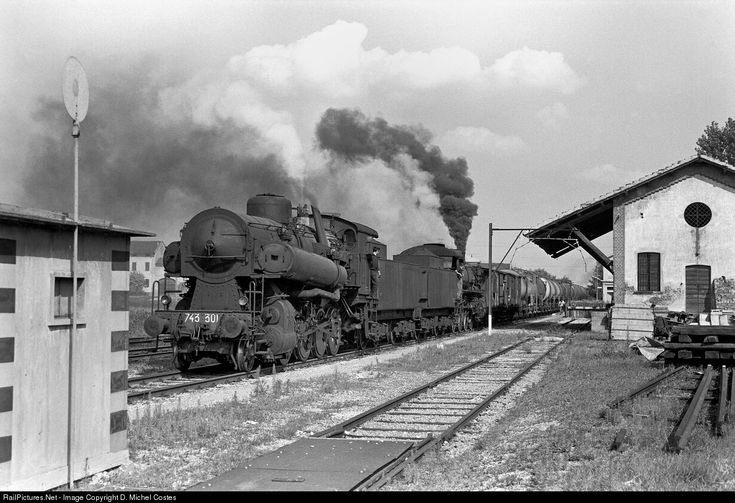 RailPictures.Net Photo: 743 301 FS Italian State Railways Steam 2-8-0 at Codogno, Italy by D. Michel Costes