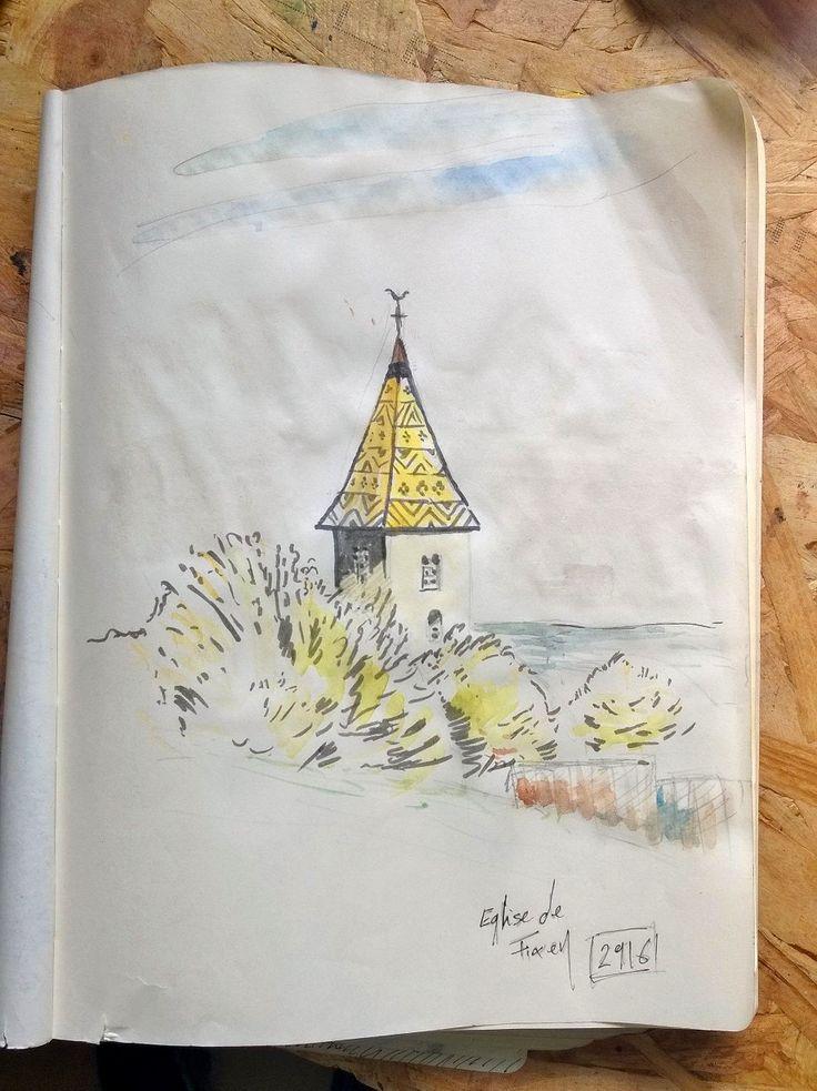 Sketch Eglise de Fixey  http://pierom.squarespace.com/rough/2016/9/2/sketch-eglise-de-fixey
