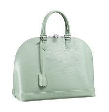 Louis Vuitton 'Alma' bag in mint.