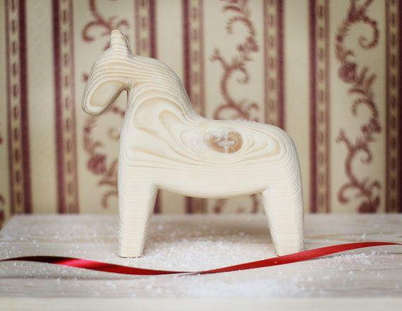 Small Wooden horse Scandinavian horse handmade wooden by ALiusy