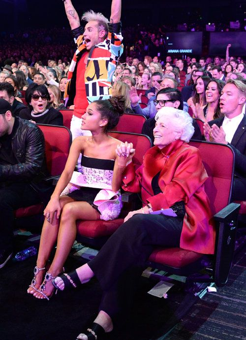 GRANDE - I love this picture from the AMAs. Ari and Nonna, Frankie cheering, Joan's face... so much love.