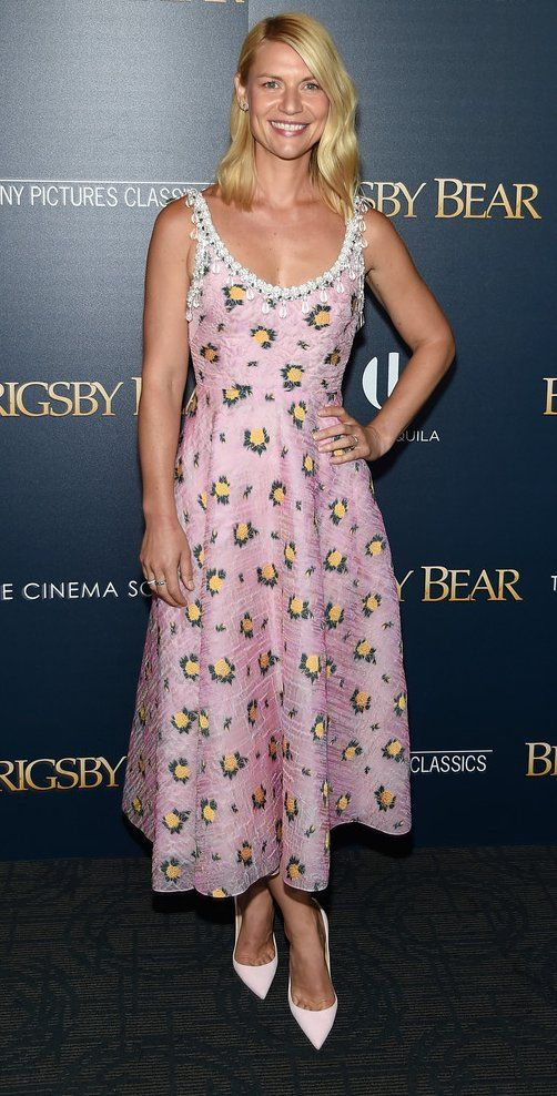 """Claire Danes in Prada attends the """"Brigsby Bear"""" L.A. premiere. #bestdressed"""