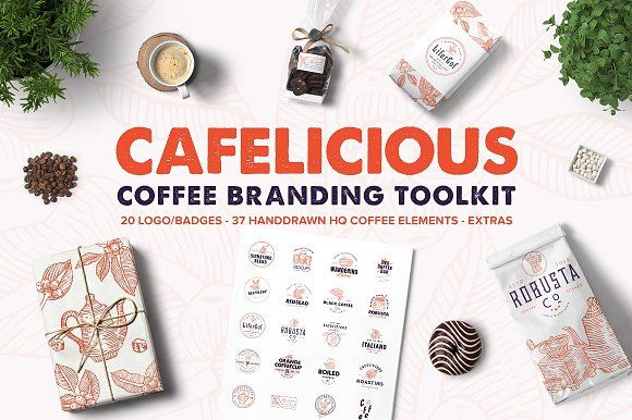 Cafelicious - Coffee Branding Kit by lovepower on @creativemarket