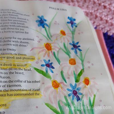 Ann Dreyer Designs bible journaling psalm 133 dwell unity
