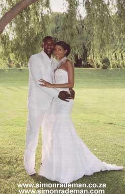 Bridal Wear by Simon Rademan - Joan Ramagoshi in Drum Magazine - find many more on www.simonrademan.co.za
