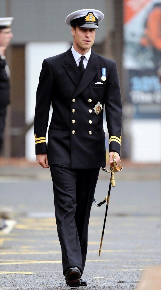Oct. 28, 2010: Prince William in his role as Commodore-in-Chief presents Gold Deterrent pins to serving personnel and veterans at Scotland's Royal Navy HQ at Faslane.