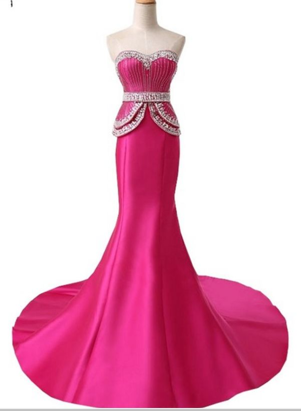 The newly arrived mermaid gown, the formal gown's