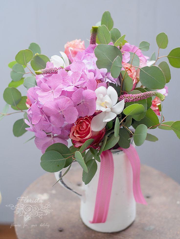 букет, цветы. флористика, гортензия, орхидея. подарок, школа, 1 сентября